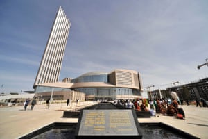The African Union building in Addis Ababa, which was donated by China.