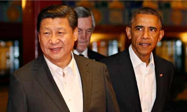 Xi Jinping and Barack Obama