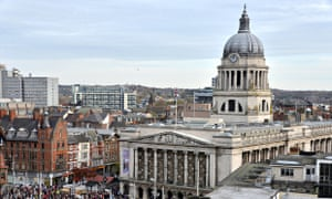 Nottingham aerial view