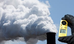 Emissions from the Bluescope steel works at Port Kembla, Australia.
