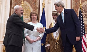 John Kerry and Iranian foreign minister Javad Zarif