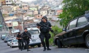 Brazillian police in Rio de Janeiro