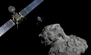 Rosetta probe and Philae lander