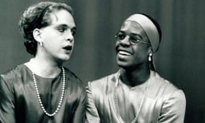 As You Like It with Tom Hollander as Celia and Adrian Lester as Rosalind, November 1991. Click here to see full picture.