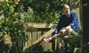 William Gibson in his garden at home