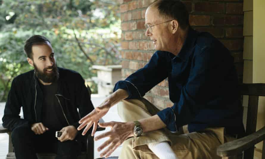 William Gibson and Ned Beauman sit and talk in Gibson's garden.