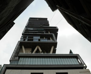 The twenty-seven storey personal residence of Reliance Industries chairman Mukesh Ambani is named after a Antilia, a mythical island in the Atlantic. It has three helicopter pads, underground parking for 160 cars and requires some 600 staff to run.