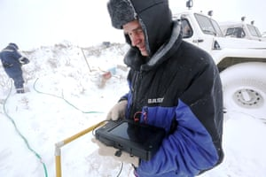 Eighty percent of the crater appears to be made up of ice and there are no traces of a meteorite strike