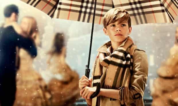 Burberry Christmas campaign starring Romeo Beckham