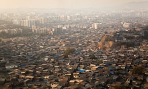 One in six of Mumbai's 12.7 million residents lives in a slum.