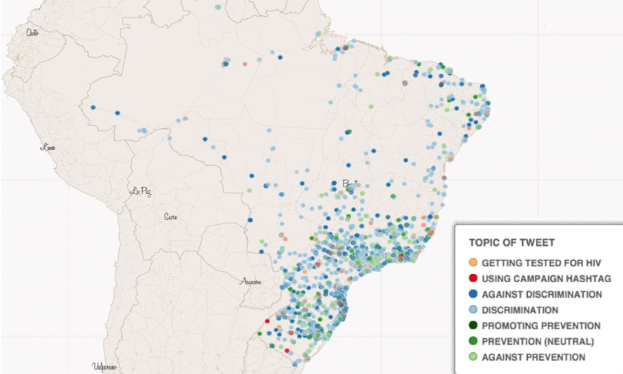 HIV tweets in Brazil during World Cup