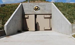 Entrance to the survival condos in Kansas.