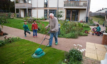"""Co-housing is attractive to single people, especially in older age groups, who want to live neither in isolation nor in conventional """"senior housing""""."""