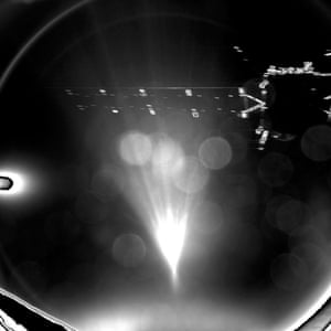 Image taken by Rosetta's lander Philae as it parted its mothership, shortly after separation