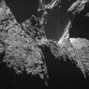 Rosetta mission spent much of the second half of October orbiting Comet 67P/Churyumov   Gerasimenko at less than 10 km from its surface. This selection of previously unpublished images taken by Rosetta's navigation camera, presents the varied and dramatic terrain of this mysterious world from this close orbit phase of the mission