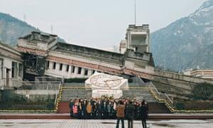 Sichuan earthquake tour, Wenchuan county, China.