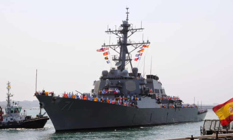USS Ross arrives in Rota, Spain