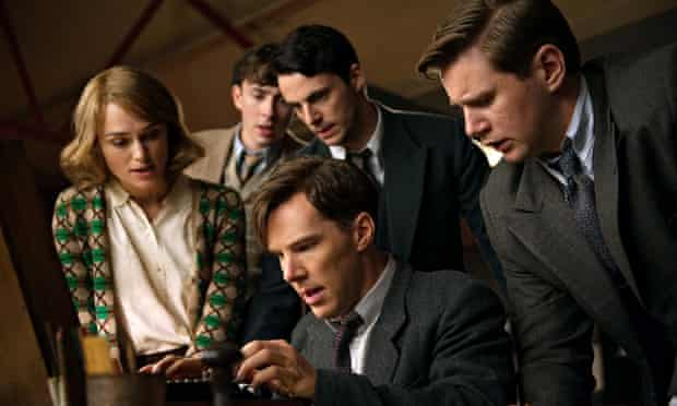 The Imitation Game with Keira Knightley and Benedict Cumberbatch