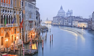 Sea mists lend Venice a unique atmosphere in autumn and winter. Photograph: Francesco Iacobelli/Getty Images/AWL Images RM