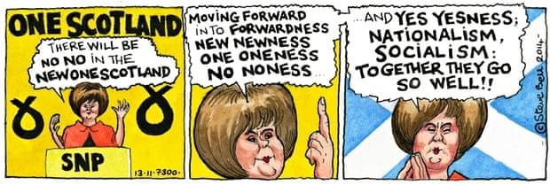 Image result for scottish nationalists caricature sturgeon