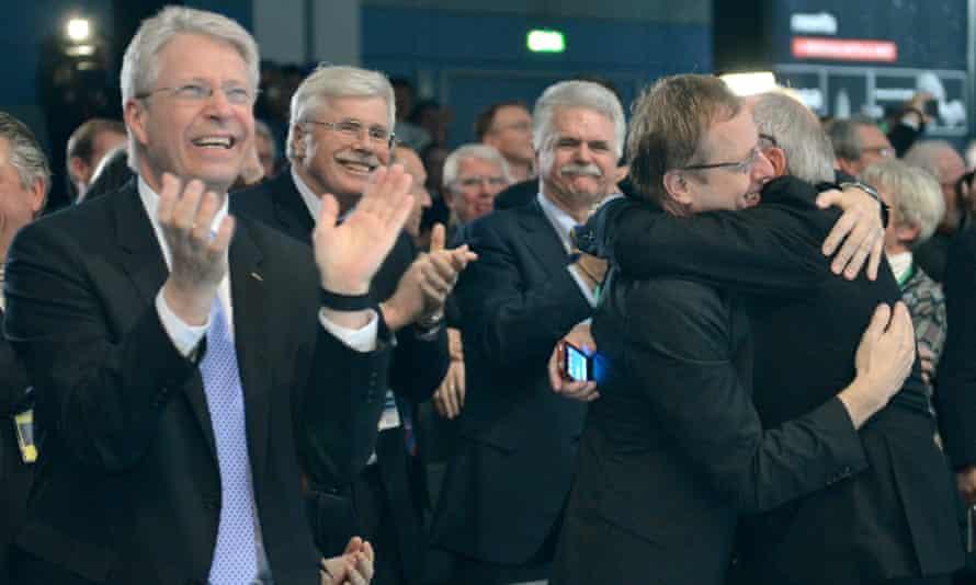 Rosetta celebrations at Darmstadt