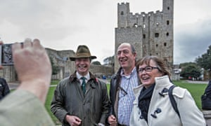 Nigel Farage outside Rochester castle