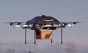 Amazon drone testing, America - 02 Dec 2013