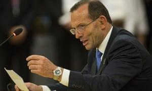 Tony Abbott at the Asean summit in Burma.