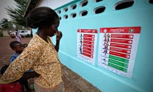 Posters on Ebola prevention in Liberia