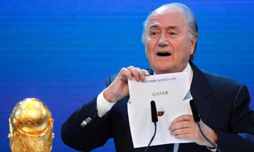Sepp Blatter announces Qatar as 2022 hosts in 2010 in Zurich.