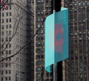 """A sensor in Chicago's Array of Things project, which seeks to better understand the natural and built environment and its impact on liveability with respect to climate, air quality, noise, and other factors -- effectively creating a """"fitness tracker"""" for Chicago."""