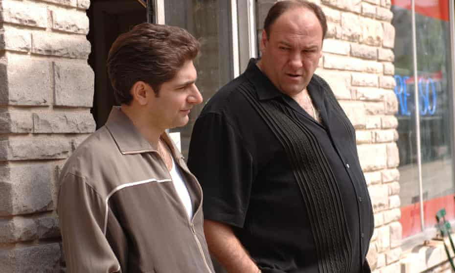 Michael Imperioli (left) and James Gandolfini in a scene from The Sopranos, the hit series about a New Jersey crime family.