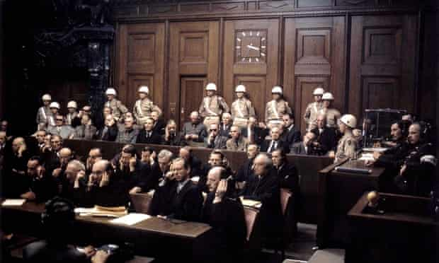 NUREMBERG WAR CRIMES TRIALS, GERMANY - 1946