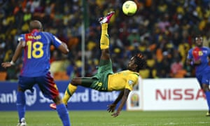 South African Lerato Chabangu plays against Cape Verde at 2013 African Cup of Nations
