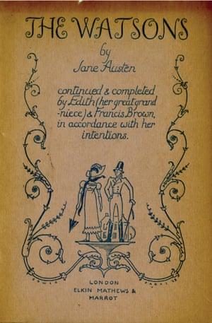 Elkin Mathews & Marrot edition of The Watsons (1928)