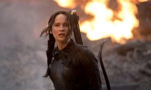 Dangerous woman? Jennifer Lawrence as Katniss in The Hunger Games