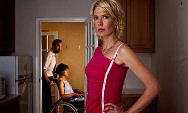 Close to the bone … Julia Davis as Jill with Angus Deayton and Rebecca Front as Don and Cathy in Nig