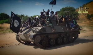A screengrab taken from a new Boko Haram video. Abubakar Shekau dismissed again government claims about ceasefire talks.