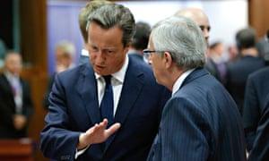 Jean-Claude Juncker, David Cameron