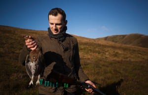 James Lowe of Lyle's London hunting game in Scotland.
