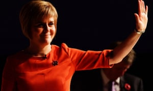 Nicola Sturgeon, Scotland's incoming first minister, delivers a keynote speech in Edinburgh at the first in a series of six events across the country to meet new SNP members