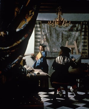 The Art of Painting by Johannes Vermeer - stolen art