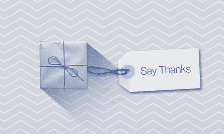 Facebook's new Say Thanks feature has just launched.