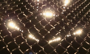 An general view of a UFC ring.
