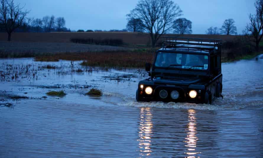 a Land Rover.