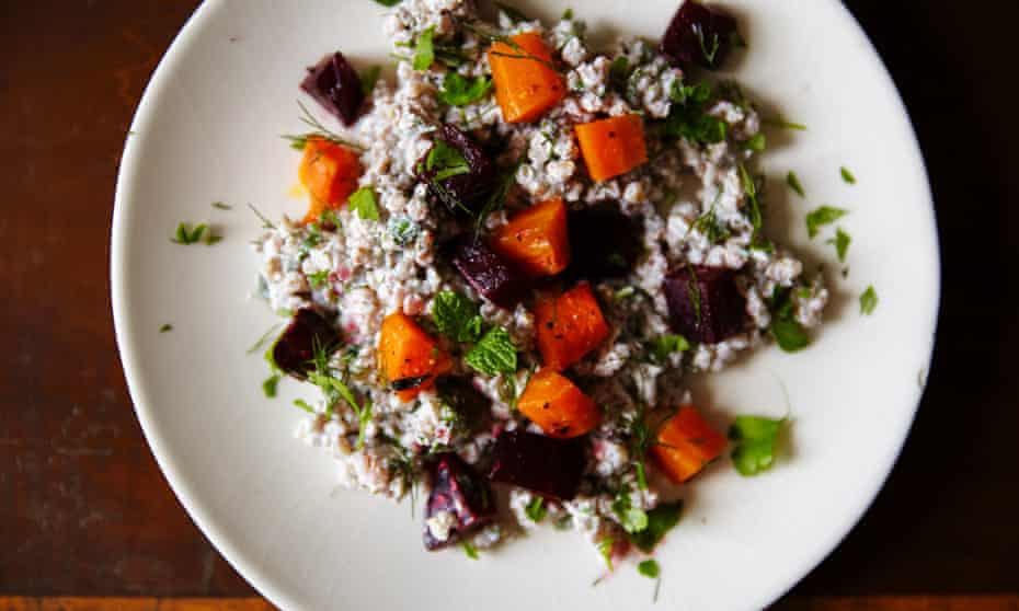 Winner: buckwheat salad with yoghurt and sumac.