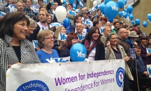 Women for Independence campaigners in Glasgow