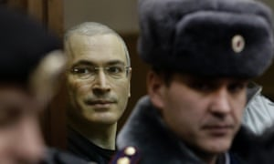 Mikhail Khodorkovsky, who spent 10 years in prison on tax evasion and embezzlement charges.