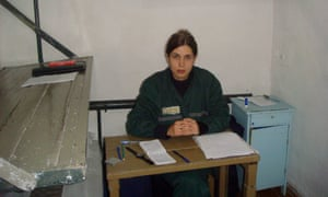 Nadia in a single confinement cell at her penal colony in the village of Partza.