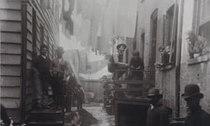 In 1888, Jacob Riis went to Bandit's Roost at 59½ Mulberry Street, considered the most dangerous and crime-ridden part of New York City, to show the middle classes how less fortunate people were living.